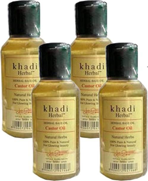 Khadi Herbal Castor Oil 100ml Pack Of 4 Hair Oil