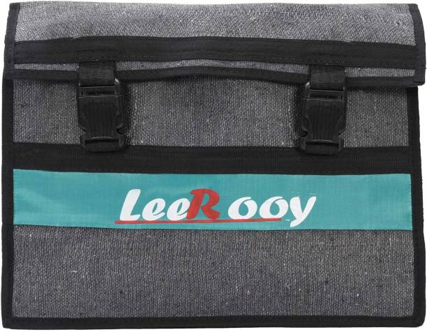 LeeRooy One-side Grey Fabric Motorbike Saddlebag