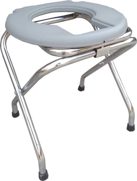 SONVI SURGICAL CROME SATNAM STOOL Commode Chair