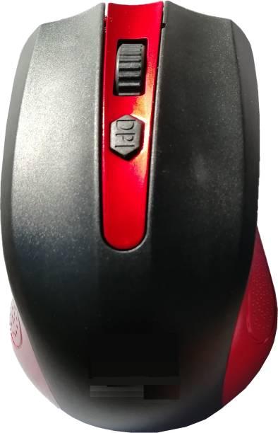 LipiWorld High Sensitivity 2.4ghz 1600dpi Optical Wireless Mouse(Red) Wireless Optical Mouse