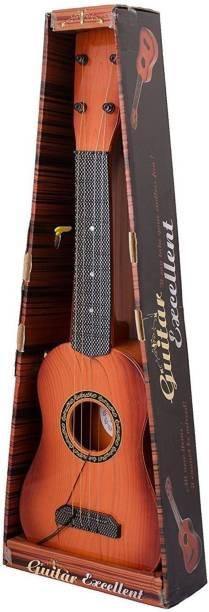 Lovely 4 string 16 Inc wooden finish plastic guitar for kids