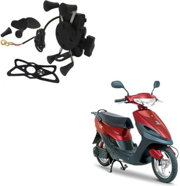 Crokrok X Shape 360 Degrees Handlebar Mirror Adjustable Spide Mobile Mount Holder for Motorcycle with USB
