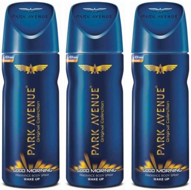 PARK AVENUE GOOD MORNING BODY SPRAY WAKE UP PACK OF 150MLX3 Deodorant Spray  -  For Men & Women