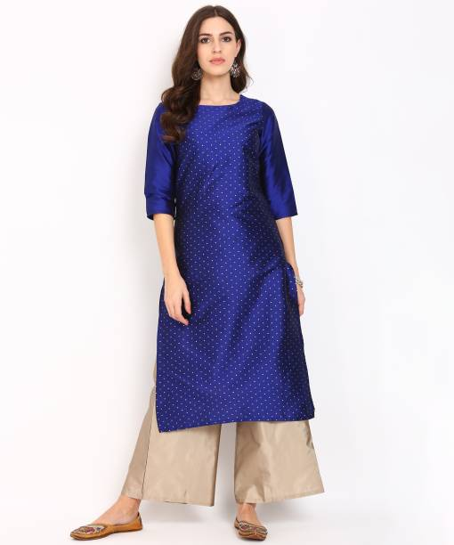 f4add6a9d94 Anmi Women s Embellished Straight Kurta. White and Black AAFREEN PARTY WEAR  GEORGETTE ANARKALI LONG DRESS. Buy VandV Beautiful Lehriya Print ...