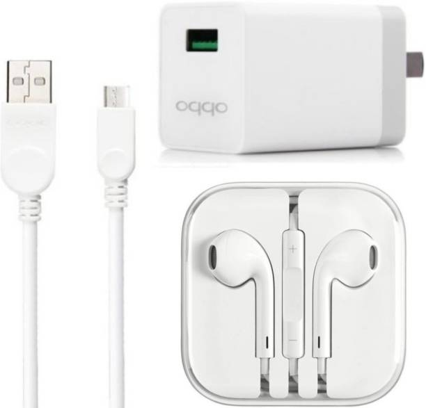 OPPO Wall Charger Accessory Combo for Oppo F1s / F3/Plus, F5/Youth, F7, A83, A37f, A37, A71, A57