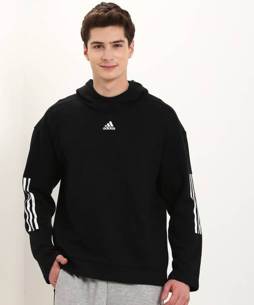 official photos acba3 7c01f ADIDAS Full Sleeve Self Design Men s Sweatshirt
