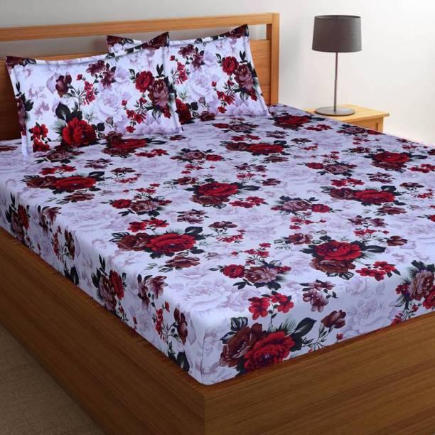 d0b2be35c0 Italian Fab 144 TC Microfiber Double Floral Bedsheet