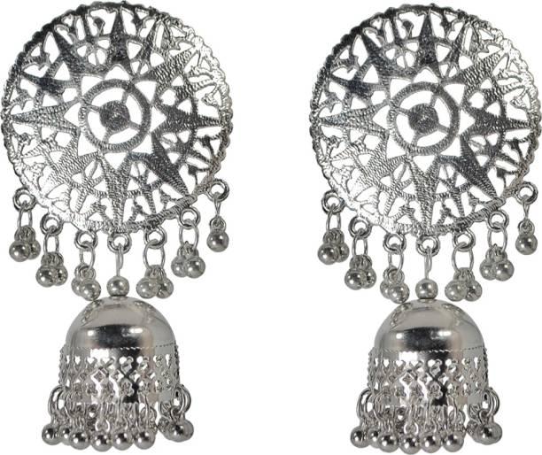 Sets Indian Women Silver Oxidized Peacock Necklace Set Fashion Jewelry Bihu Trible Fashion Jewellery