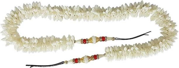 KashQueen Bun Maker Hair Accessories / Hair Gajra, White, 15 Grams, Pack of 1 / Braid Extension