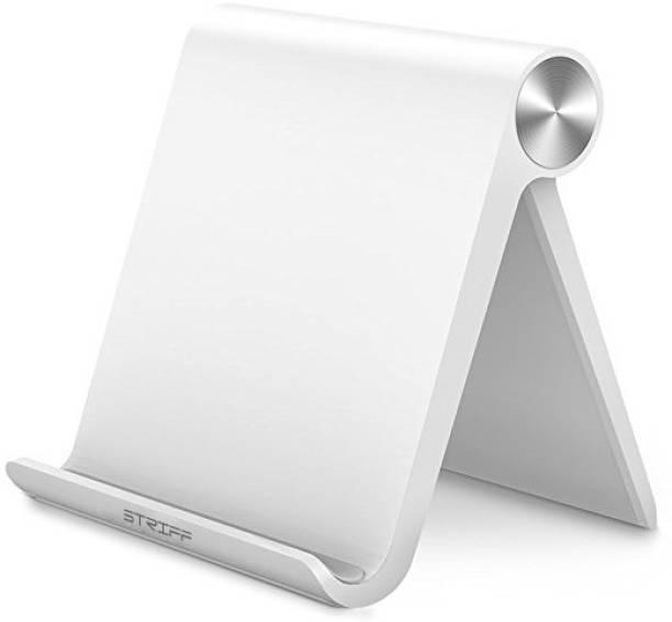 STRIFF Universal Superior ABS Adjustable Multi Angle Desktop phone Stand Mount Holder for Smart Phones(Black) Mobile Holder
