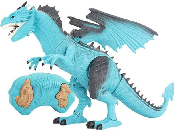 863330c76be8b IndusBay Remote Control Fire Dragon for Kids - RC Walking Dinosaur Robot  T-Rex with