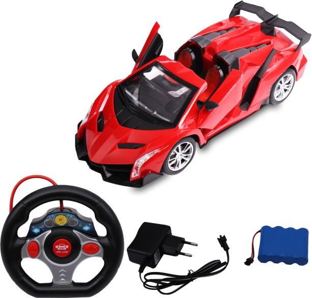 Red 1:20 Scale Super Car LED Light RC Radio Remote Control Concept Car Toys
