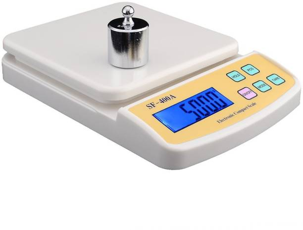 ebb9610efa0 Khargadham SF 400A Digital Electronic Kitchen Weight Machine Capacity 10Kg  Multipurpose With Batteries   Adopter Weighing Scale