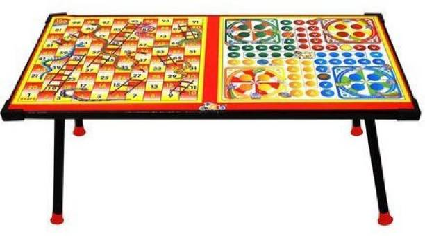 NEELAM Big Wooden Ludo,Snakes and Ladders Printed Foldable Study Table Board Game Indoor Sports Games Board Game