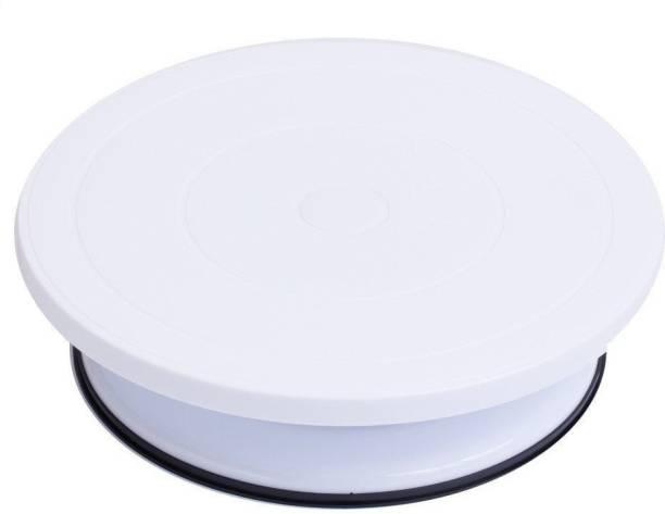 Inditradition Plastic Cake Decorating Revolving Turntable, White Full Cake Maker Cake Maker