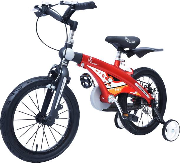 R for Rabbit Tiny Toes Jazz Smart Plug & Play Kids Cycle (16/T for Kids 4 to 7 Years) (Red) 16 T Road Cycle