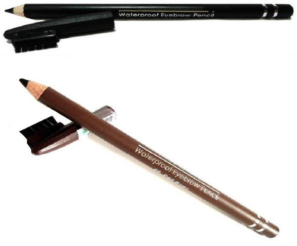 NATURAL black brown eyebrow pencil waterproof long lasting eyebrow definer pencil with brush