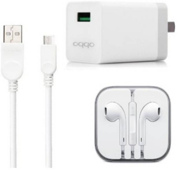 OPPO Wall Charger Accessory Combo for Oppo F1s / F3/Plus, F5/Youth, F7, A83, A37f, A37, A71, A57, Buy with Authorised seller NS STUFF