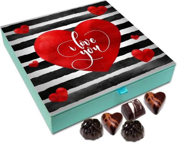 Chocholik Valentines Day Gift Box - You Send My Heart Into Orbit Belgium Chocolate Box - 9pc Truffles