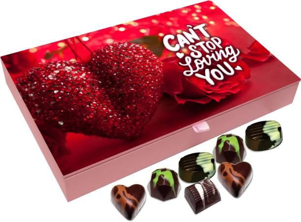 Chocholik Valentines Day Gift Box - Take My Heart Belgium Chocolate Box - 12pc Truffles