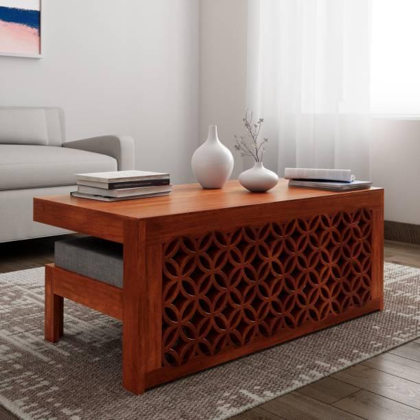 THE ATTIC Sheesham Wood Solid Wood Coffee Table
