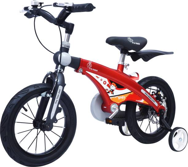 R for Rabbit Tiny Toes Jazz Bicycle Smart Plug & Play Kids Cycle (14 inch/T/ 3-5 Years) (Red) 14 T Road Cycle