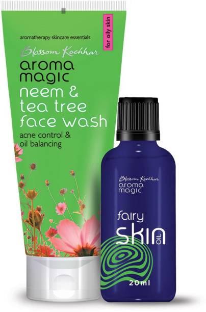 Aroma Magic Combo of Fairy Oil & Neem and Tea Tree Face Wash