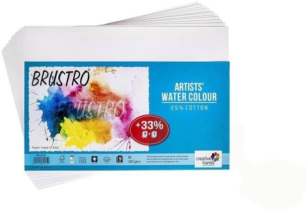BRuSTRO Cotton Unruled A3 300 gsm Watercolor Paper
