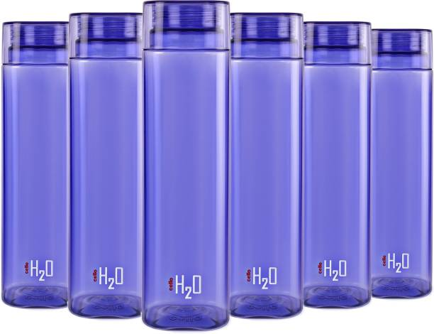 d4d254ca72 Cello H2o Squaremate Plastic Water Bottle, 1-Liter , Set of 6, Purple