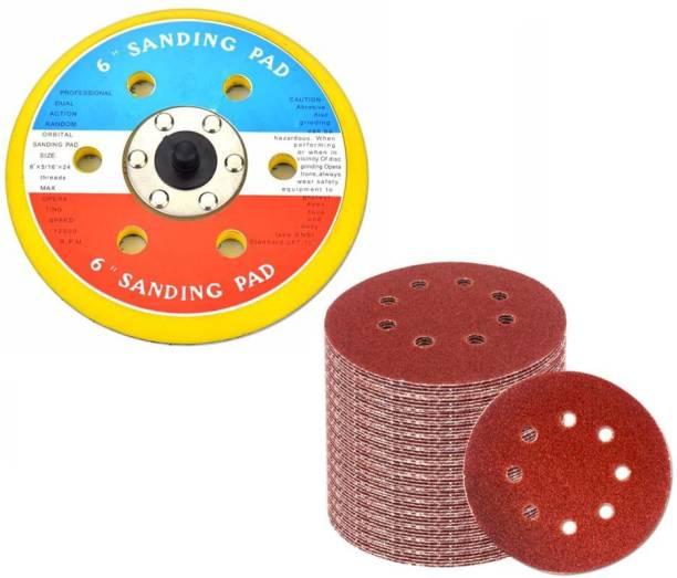 Digital Craft 6 Inch Air Sanding Disc Polish Pad Air Sander With Vacuum Polishing Pad For 150mm Pneumatic Sander Wood Polisher