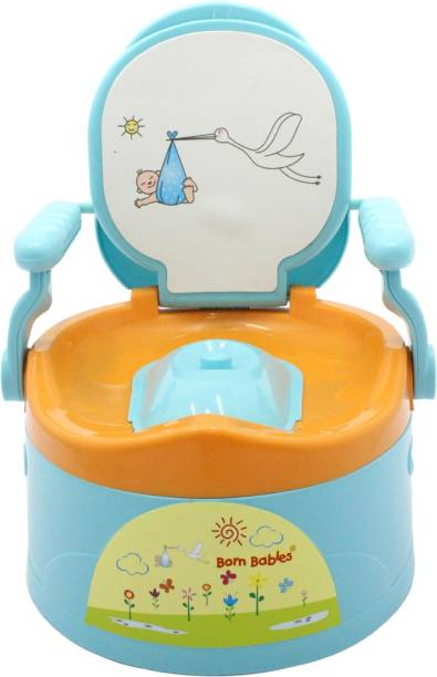 Born Babies Comfort Premium Baby Potty Training Seat with Covering Lid Potty Box
