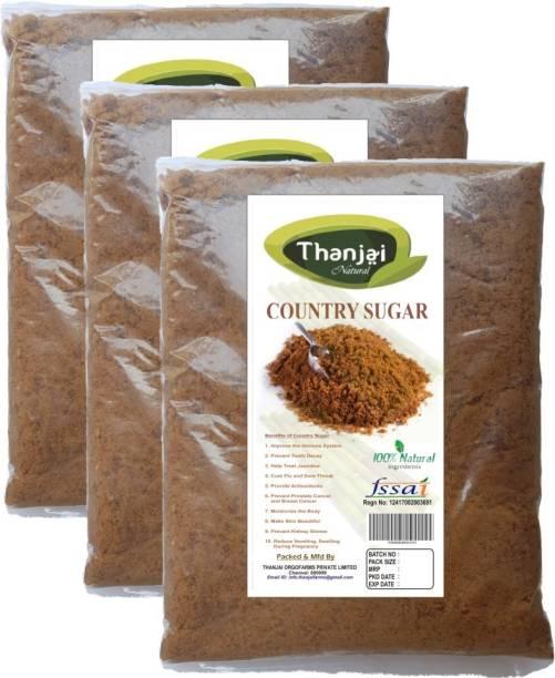 THANJAI NATURAL Country Sugar 300grams 100% Natural Pure Traditional method Made Sugar