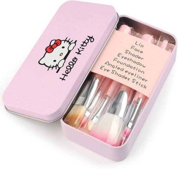 Hello Kitty Mini Pink Makeup Brush Set (Pack of 7)