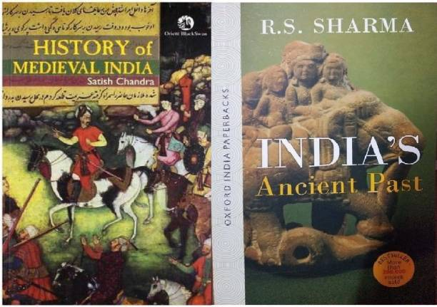 Satish Chandra (History Of Medieval India And RS SHARMA Ancient Past Of India, English Medium, Paper Back
