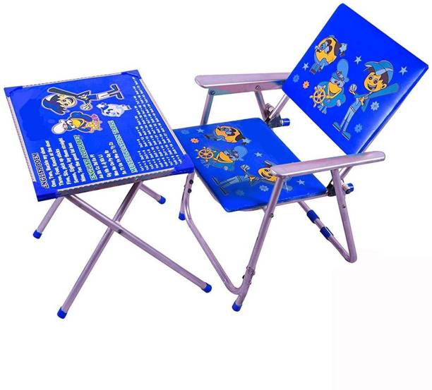 VINDHWASHNI Kids Table and Chair Set Solid Wood Desk Chair (Finish Color - Blue) Solid wood Desk Chair