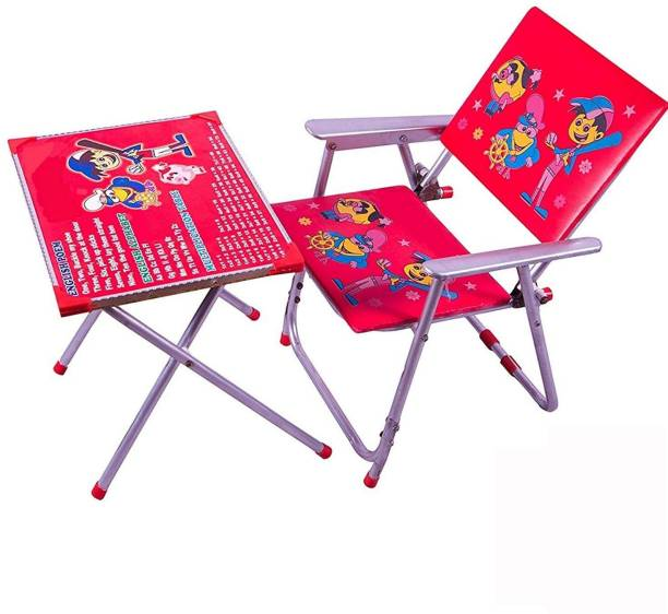 VINDHWASHNI Kids Table and Chair Set Solid Wood Desk Chair (Finish Color - Red) Solid wood Desk Chair