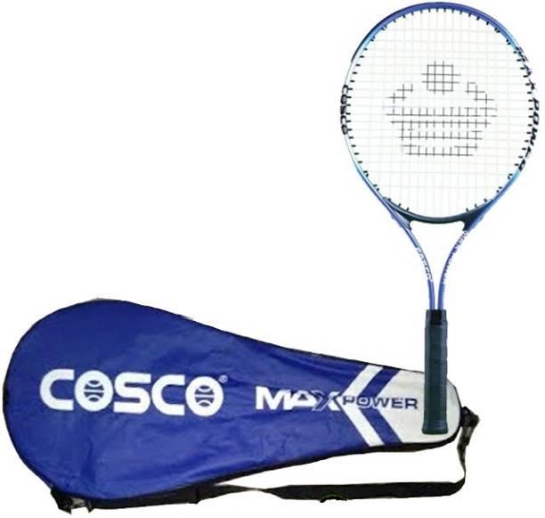COSCO Max Power Aluminium O Beam Senior Size Multicolor Strung Tennis Racquet