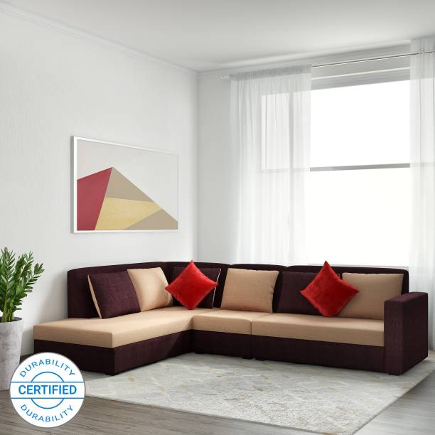 MUEBLES CASA Jordan Fabric 6 Seater  Sofa