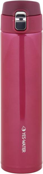 Online World Stainless Steel Double Vacuum Insulated Water Bottle LeakProof Thermoflask (Pink) 600 ml Flask