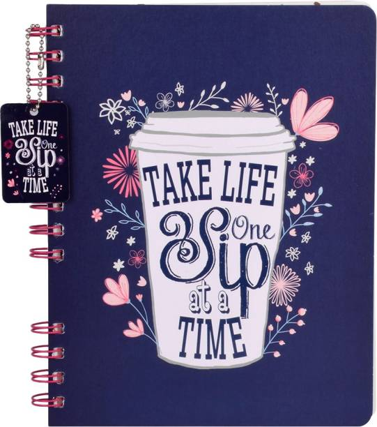 doodle Morning Glory Stop Wiro With Dangler Notebook Regular Diary Ruled 160 Pages