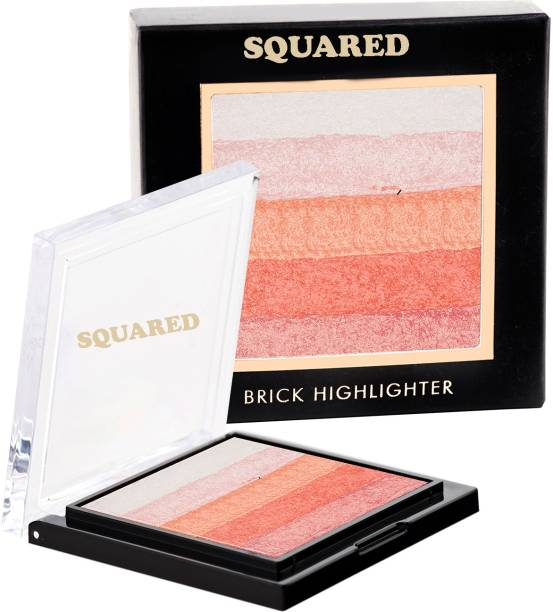 SQUARED Professional Makeup Shining Star Shimmer Brick Highlighter (Pink) (02) Highlighter