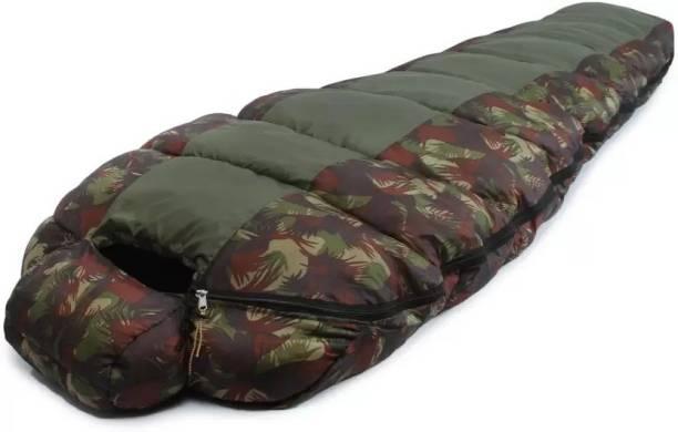 IBS Commando Army Waterproof Hood Camping Hiking Travel Sleep For Single Person Sleeping Bag