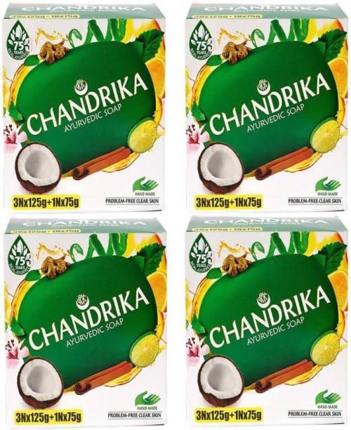CHANDRIKA Ayurvedic Handmade Soap 12 Of 125g and 4 Of 75g