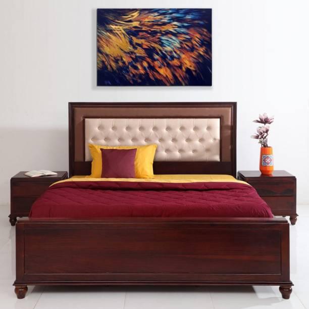 EVOK Sheesham Wood Solid Wood King Hydraulic Bed