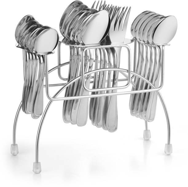 Flipkart SmartBuy Stainless Steel Cutlery Stand Spoon and Fork Rack Holder Stainless Steel Cutlery Set