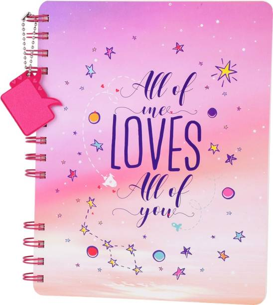 doodle Mine Celebrate Love Stop Notebook With Dangler Regular Diary Ruled 160 Pages