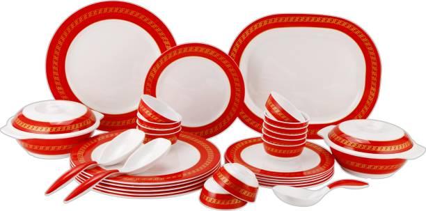STEHLEN Pack of 21 Melamin Vintage Series, 100% Pure Melamine,Dishwasher Safe Dinner Set