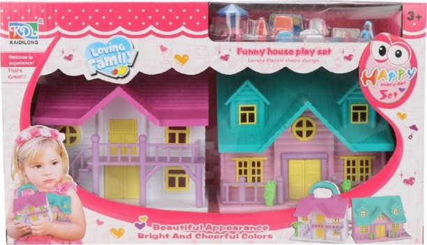 Miniature Dollhouse FAIRY GARDEN Accessories ~ Bright Multi-Color Set of Dishes