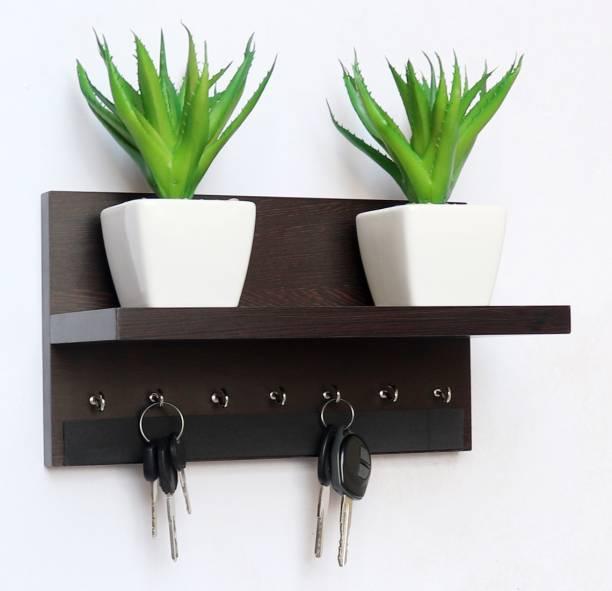 Madhuran Display 7 HOOK wenge Wood Key Holder