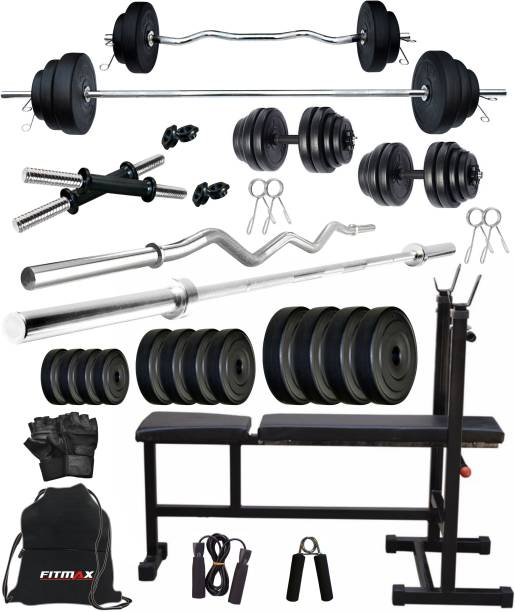 FITMAX 40 kg PVC COMBO 5-SL Home Gym Combo